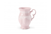 Tasse cappuccino 0,22 l Spitzen rosa Porzellan