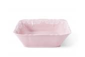 Schüssel Quadrat  25 cm Spitzen rosa Porzellan