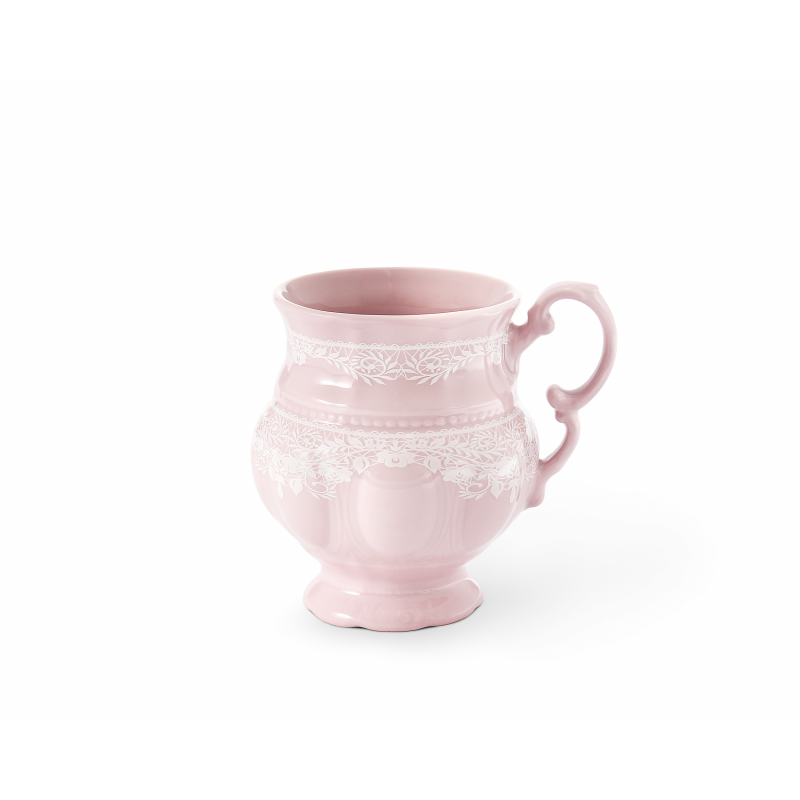 Mug 0.20 l Lace rosa porcelain