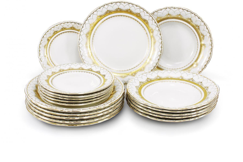 Plate set 18-piece Wedding sonata