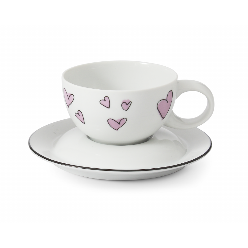 Cup and saucer 0.20 l Nostalgy