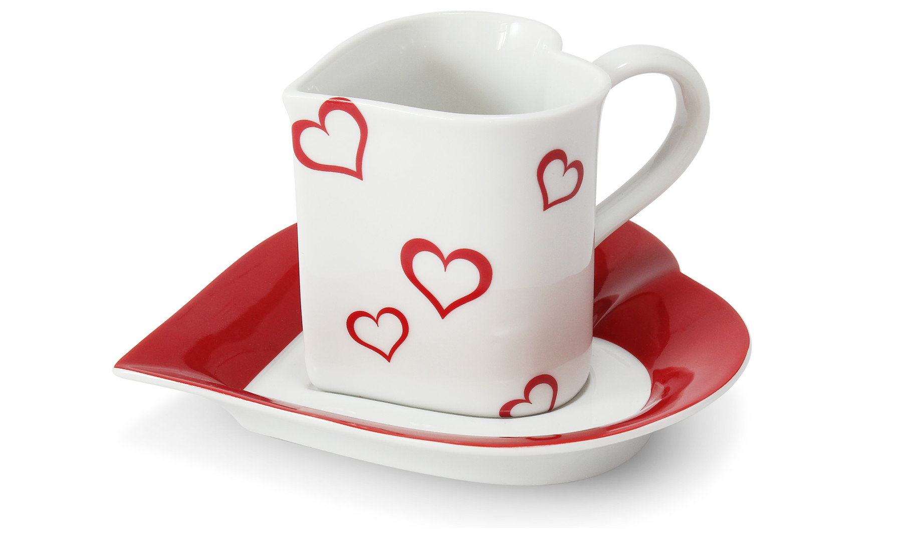 Cup and saucer 0.20 l ,,HEART,, Valentine var.1
