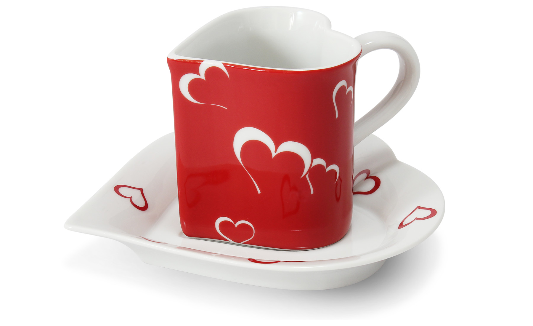 Cup and saucer 0.20 l ,,HEART,, Valentine var.2