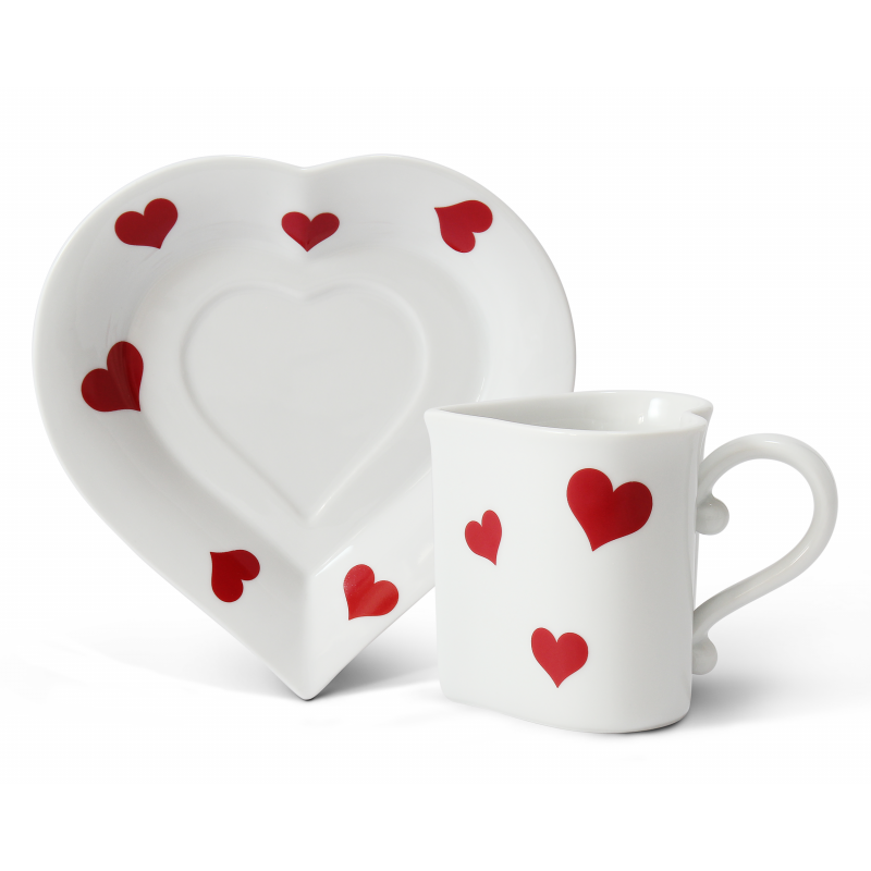 Cup and saucer 0.20 l ,,HEART,, Valentine var.3