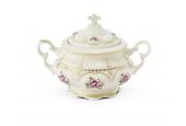 Tea set 15 pieces Bohemian rose ivory