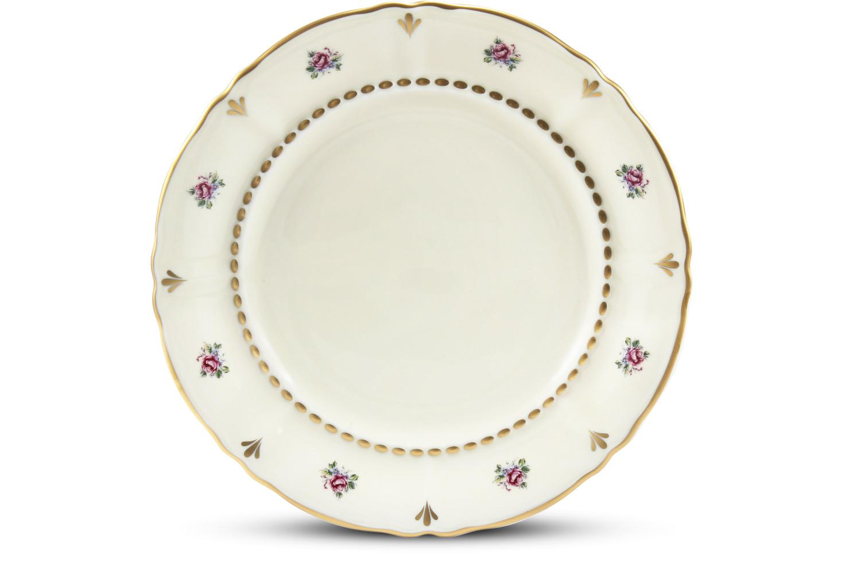 Dessert plate 19 cm Bohemian rose ivory
