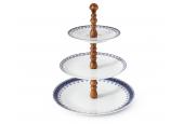 HyggeLine walnut Tiered plate