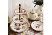 Tiered plate Gingerbread cookies walnut