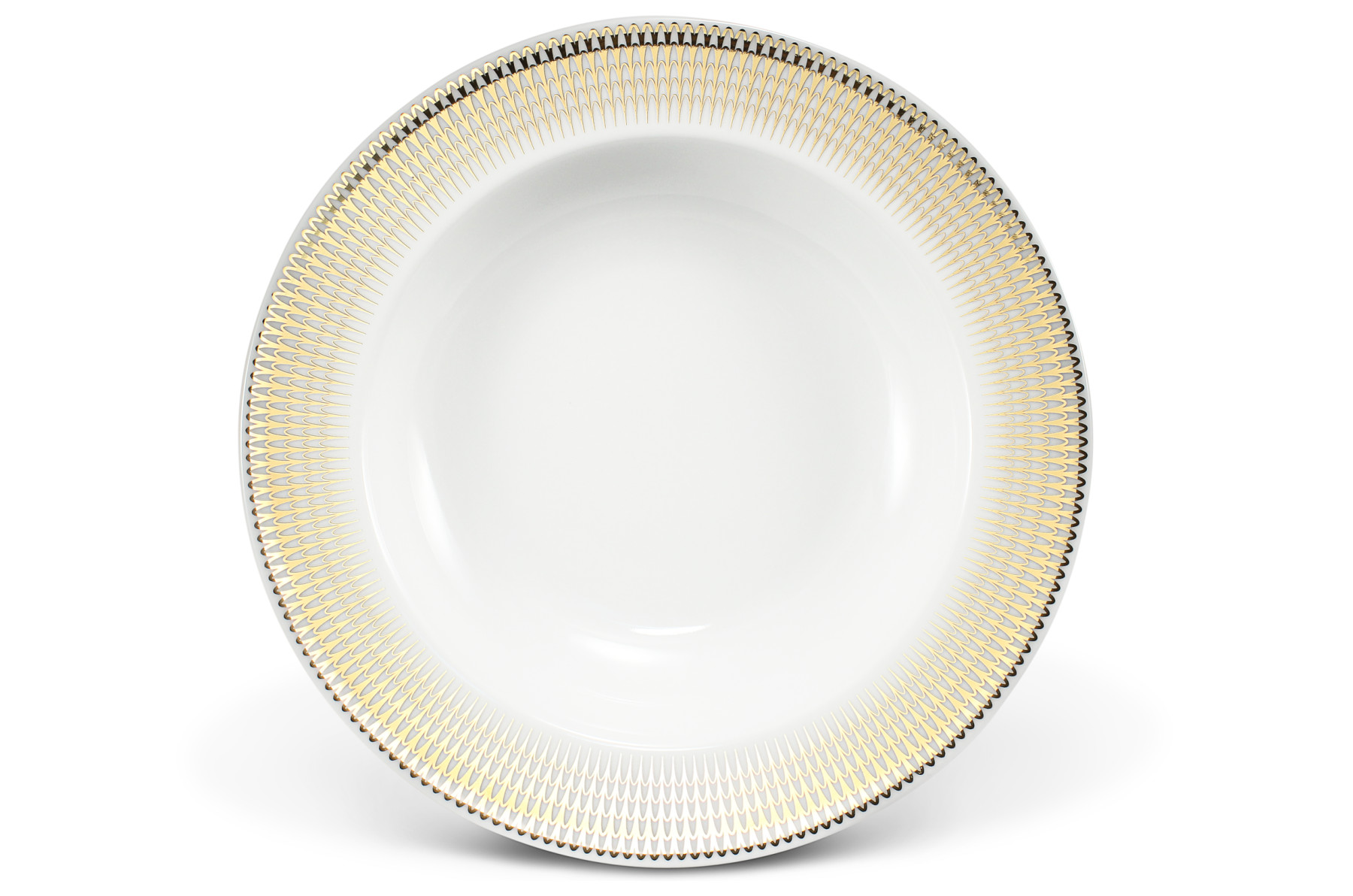 Hluboký talíř 22 cm Zlatá andělská křídla