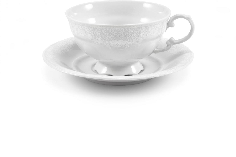 Tasse mit Untertasse Spitzen