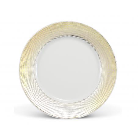 Mělký talíř 25 cm Zlatá...