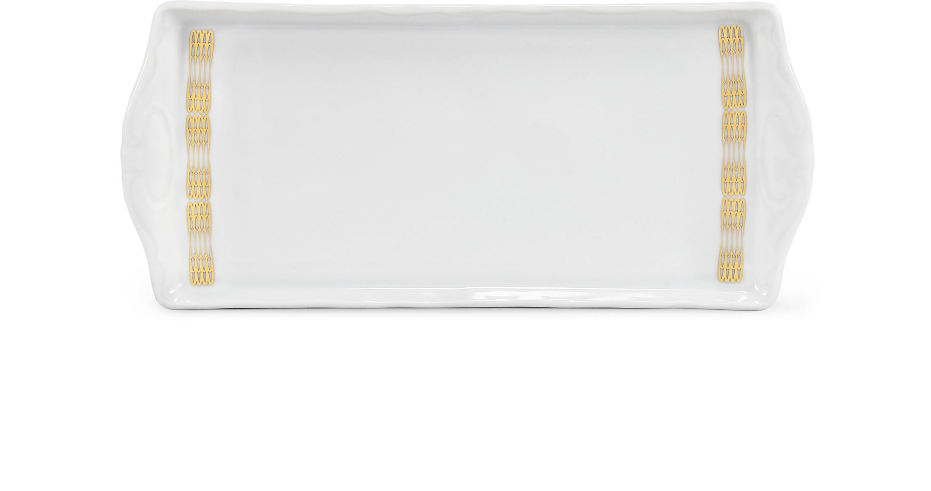 Servierbrett Quadrat 21 cm Goldene Engelsflügel