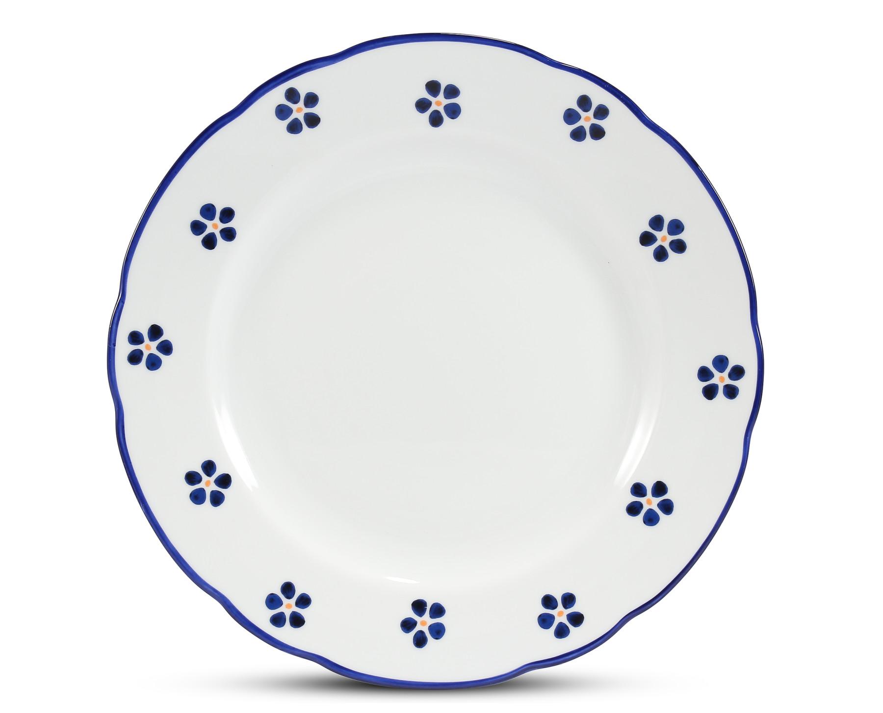 Speiseteller 25 cm Blaue Blumen