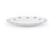 Shallow plate 25 cm Blue Blossoms