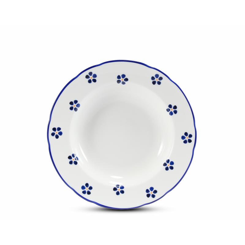 Soup plate 23 cm Blue Blossoms