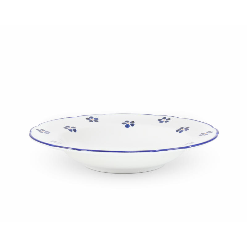 Suppenteller 23 cm Blaue Blumen