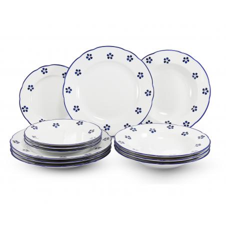 Plate set 12 pieces Blue...