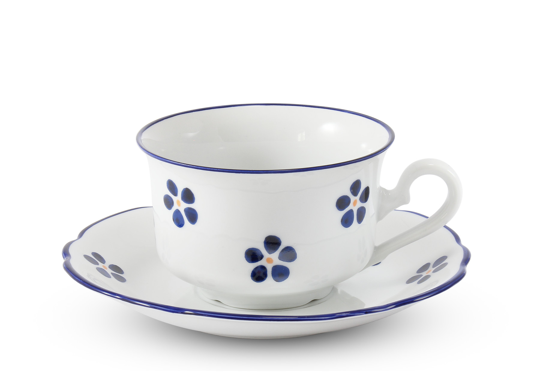 Low cup with saucer 0,20 l Blue Blossoms