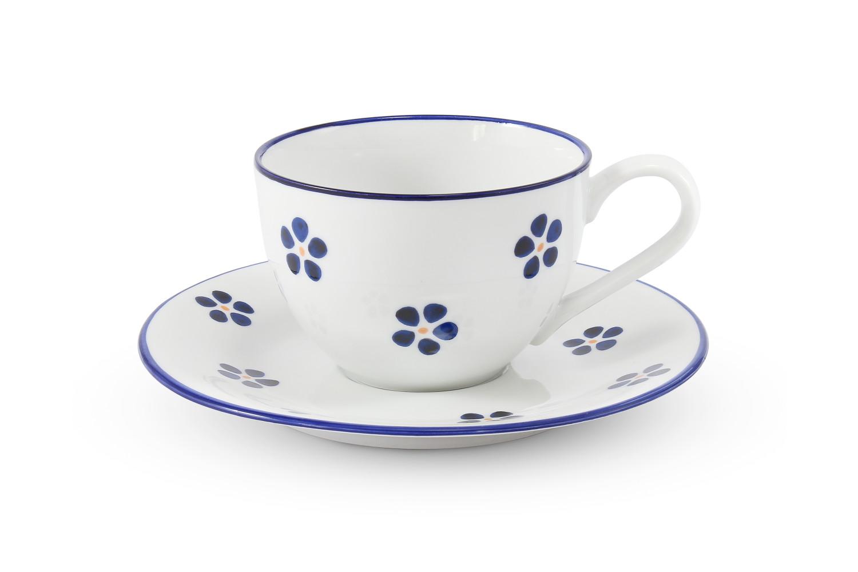 Tasse mit Untertasse 0,20 l Blaue Blumen