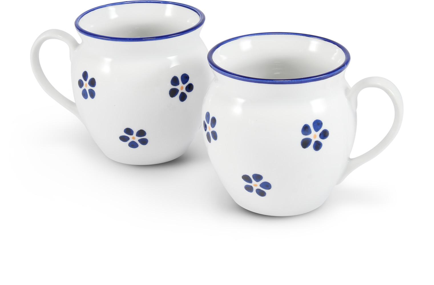 """Satz mit zwei Bechern 0,30 l """"BUCLÁK"""" Blaue Blumen"""