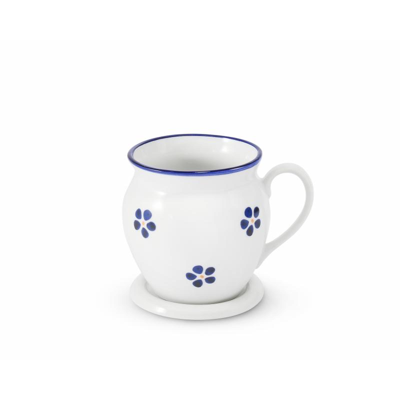 "Mug 0,30 l ""BUCLÁK"" with lid Blue Blossoms"