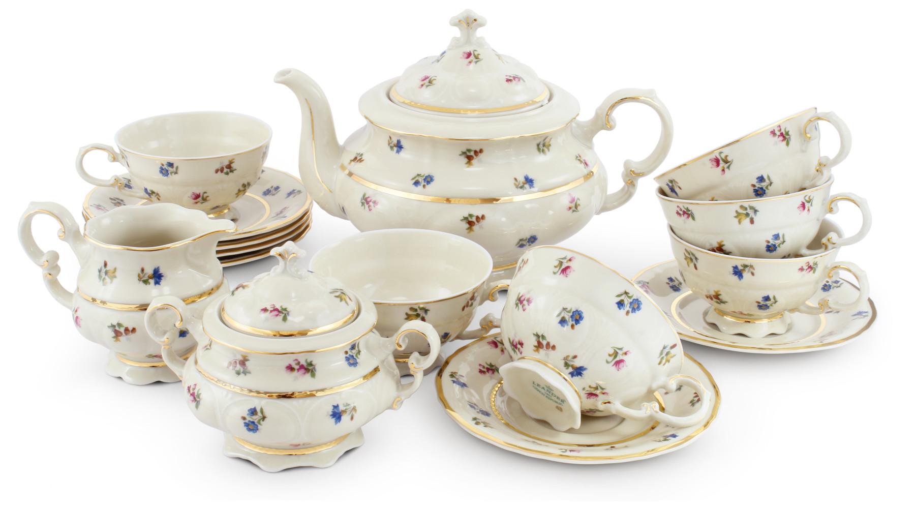 Tea set 15-piece - Floral celebration