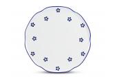 Dortový talíř 28 cm na nožce Modrohrátky ze zahrádky