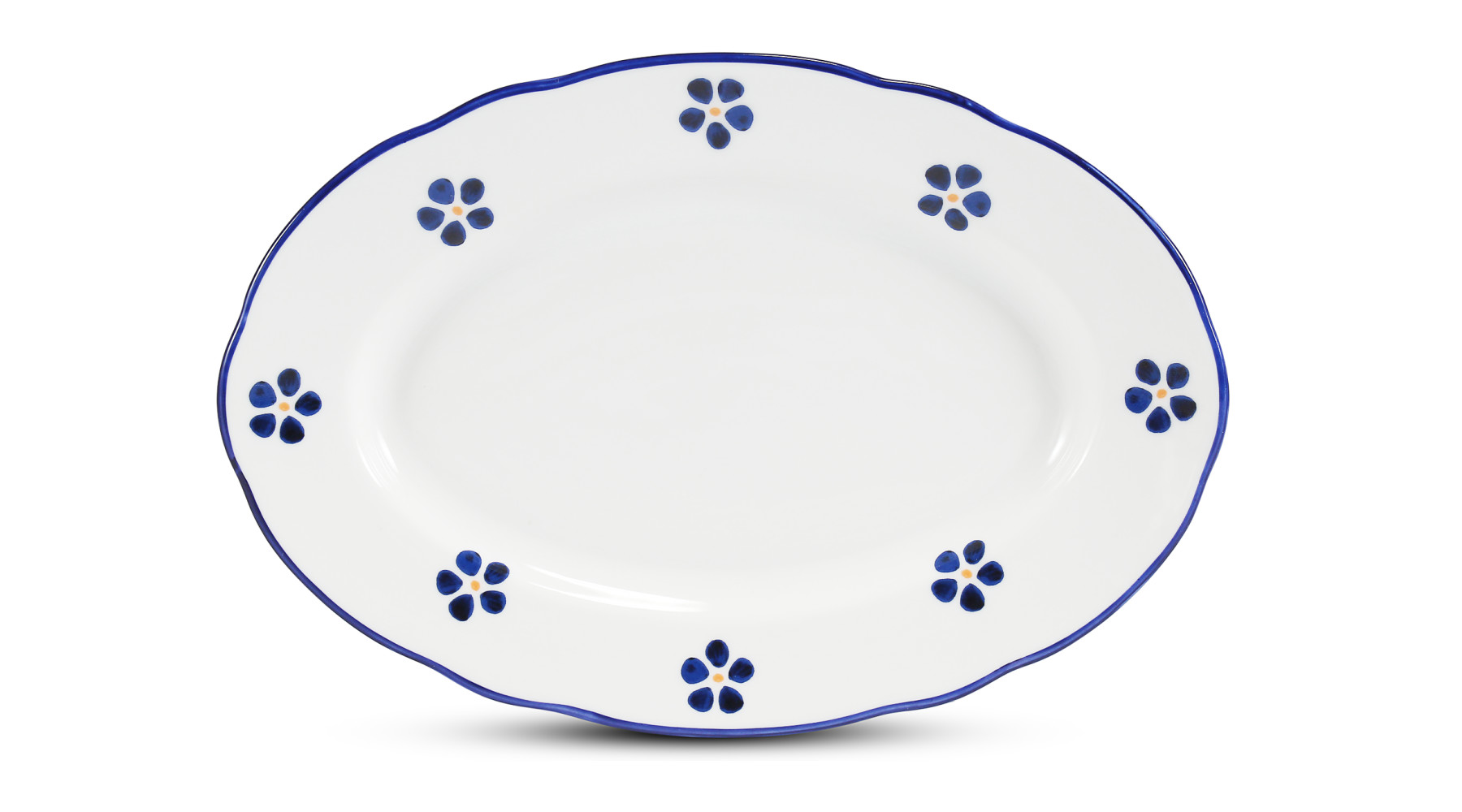 Oval attachment bowl 23 cm Blue Blossoms