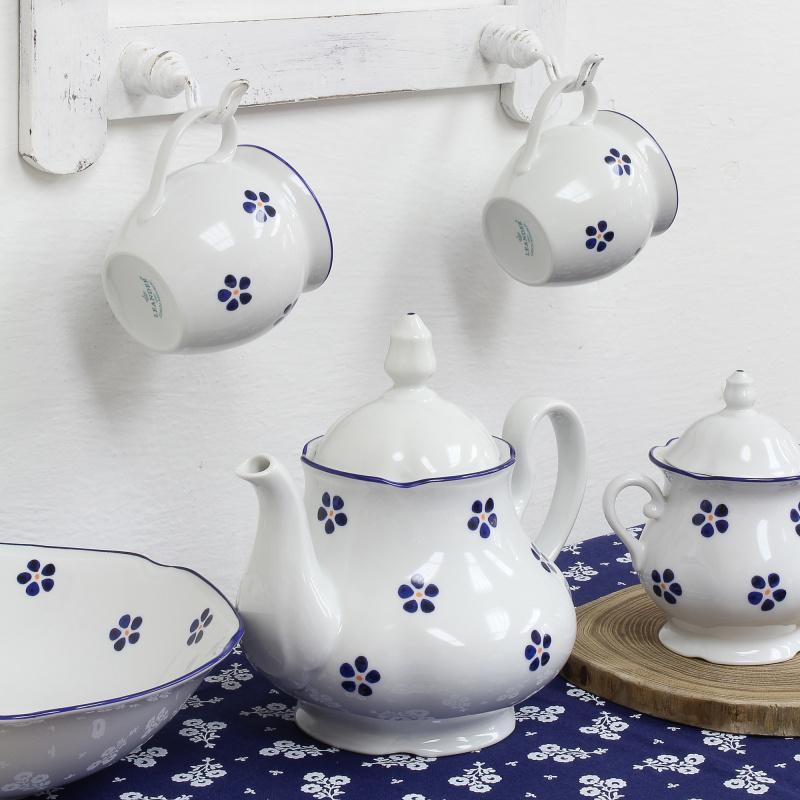 Kompott-Schale 23 cm Blaue Blumen