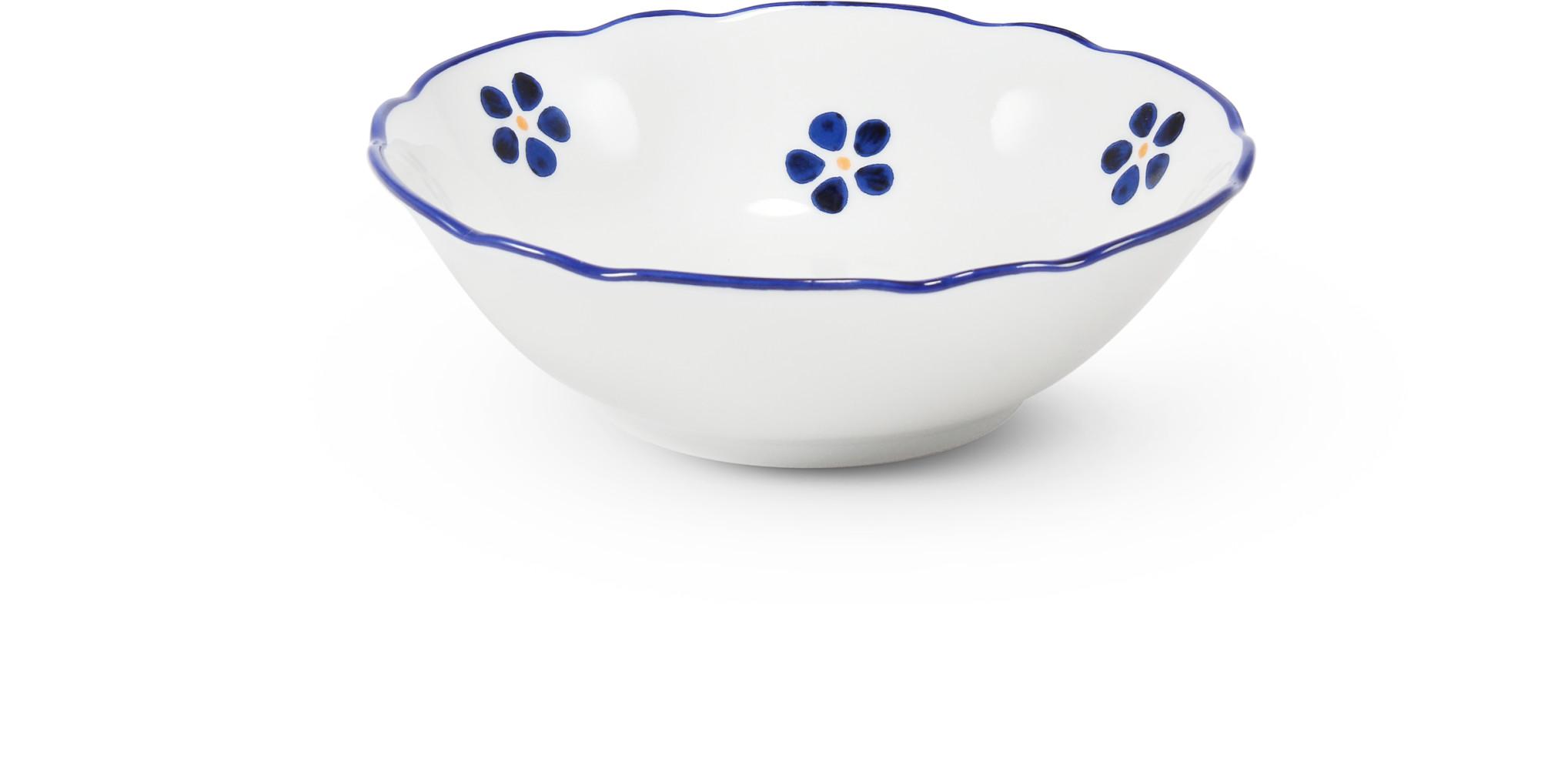 Kompott-Schale 13 cm Blaue Blumen