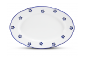 Oval bowl 32 cm Blue Blossoms