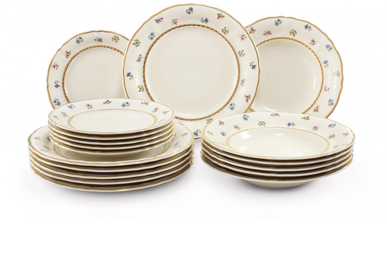 Plate set 18-piece - Floral celebration