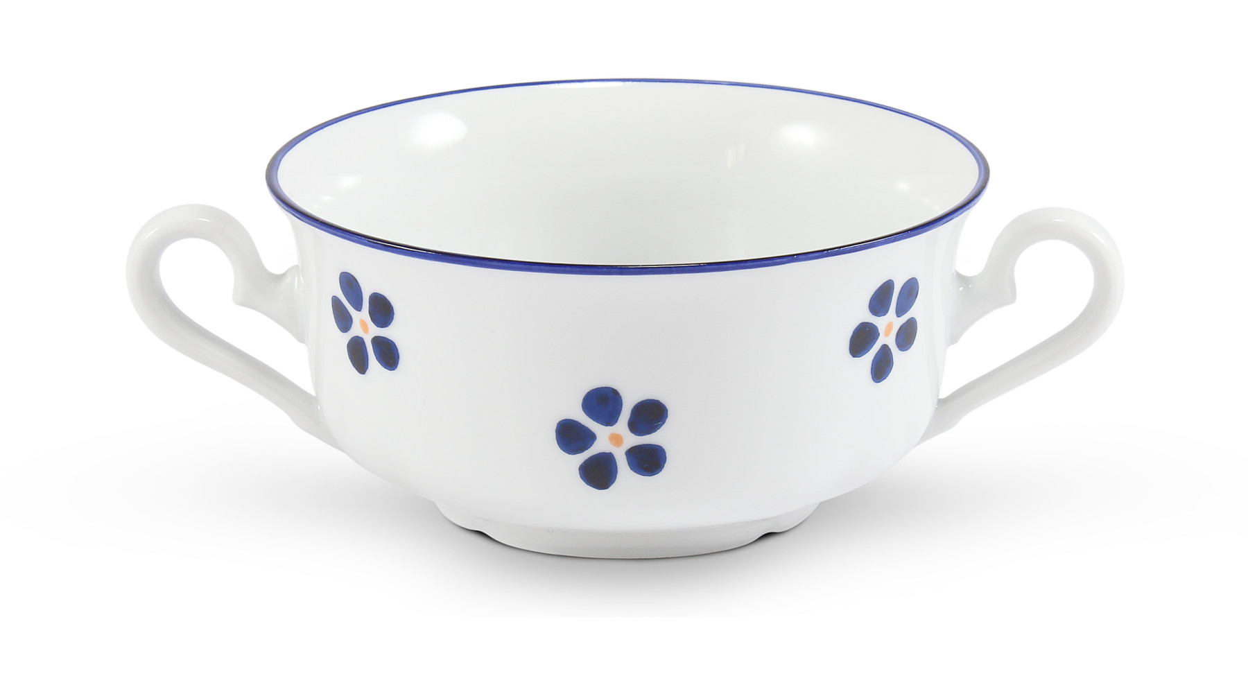Soup cup 2 handles 0,35 l Blue Blossoms