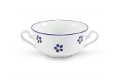 Suppentasse 2 Griffe 0,35 l Blaue Blumen