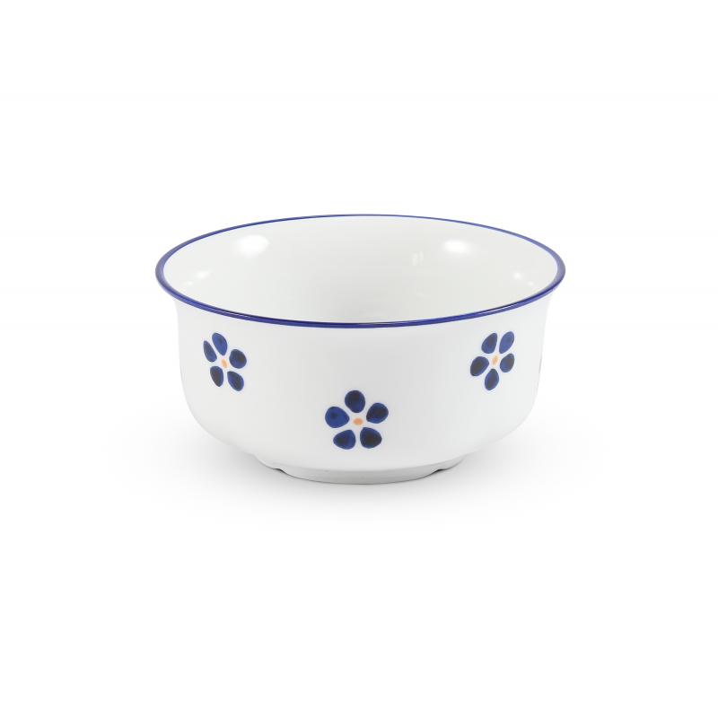 Suppentasse ohne Ohr 0,35 l Blaue Blumen