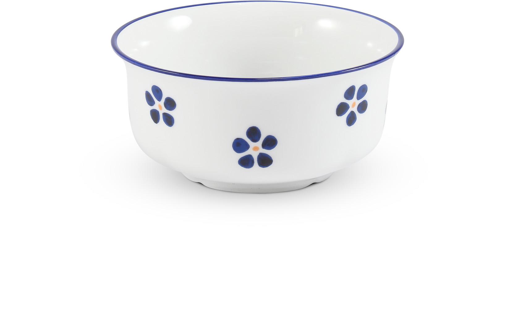 Šálek na polévku bez ucha 0,35 l Modrohrátky ze zahrádky