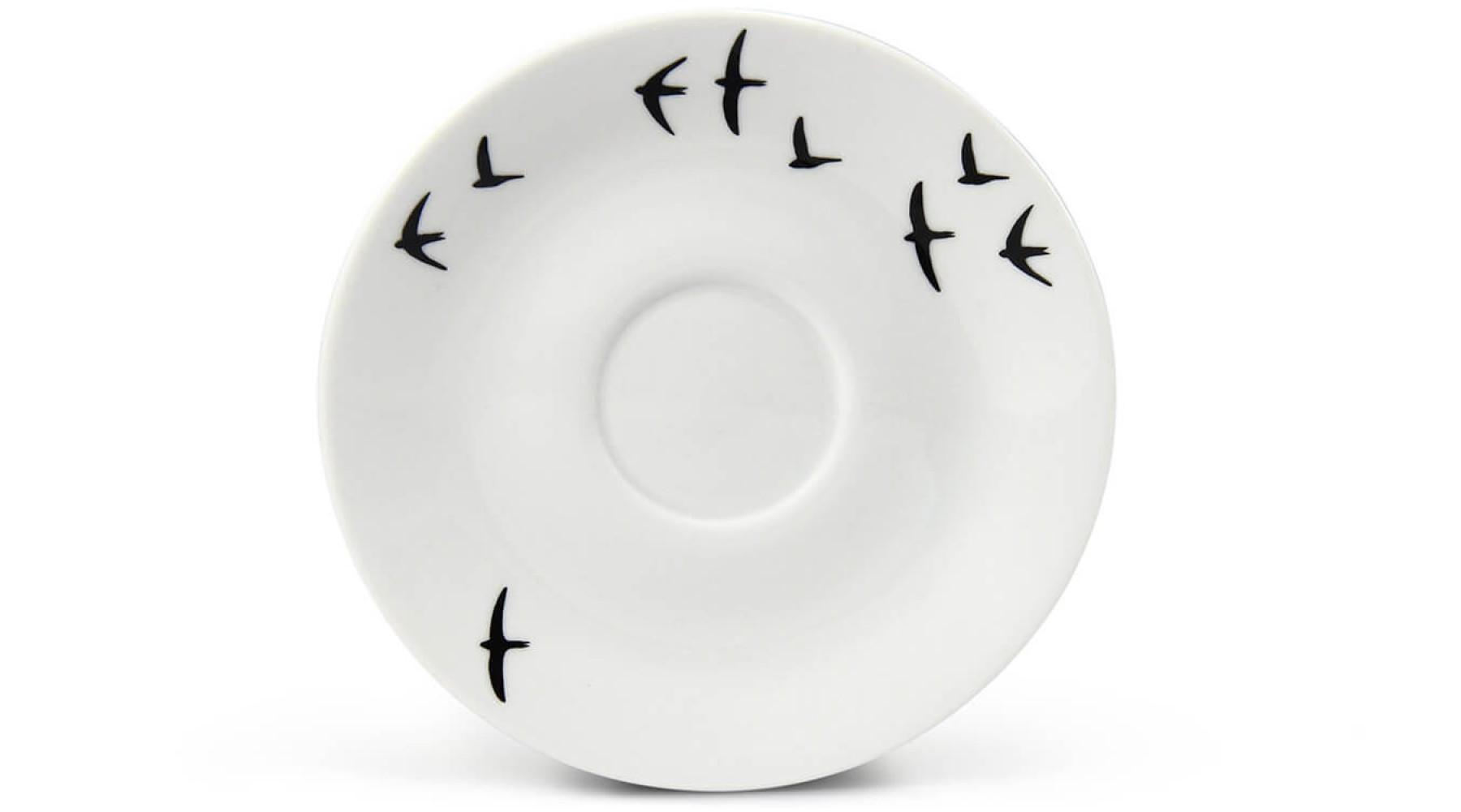 Untertasse für Espresso BeFree Vögel