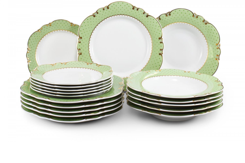 Plate set 18-piece - Antonie dot