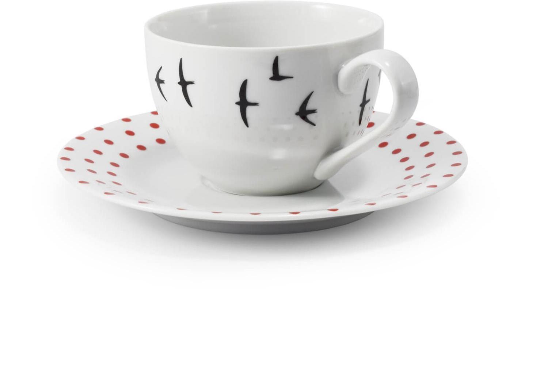 Tasse mit Untertasse BeFree getupft