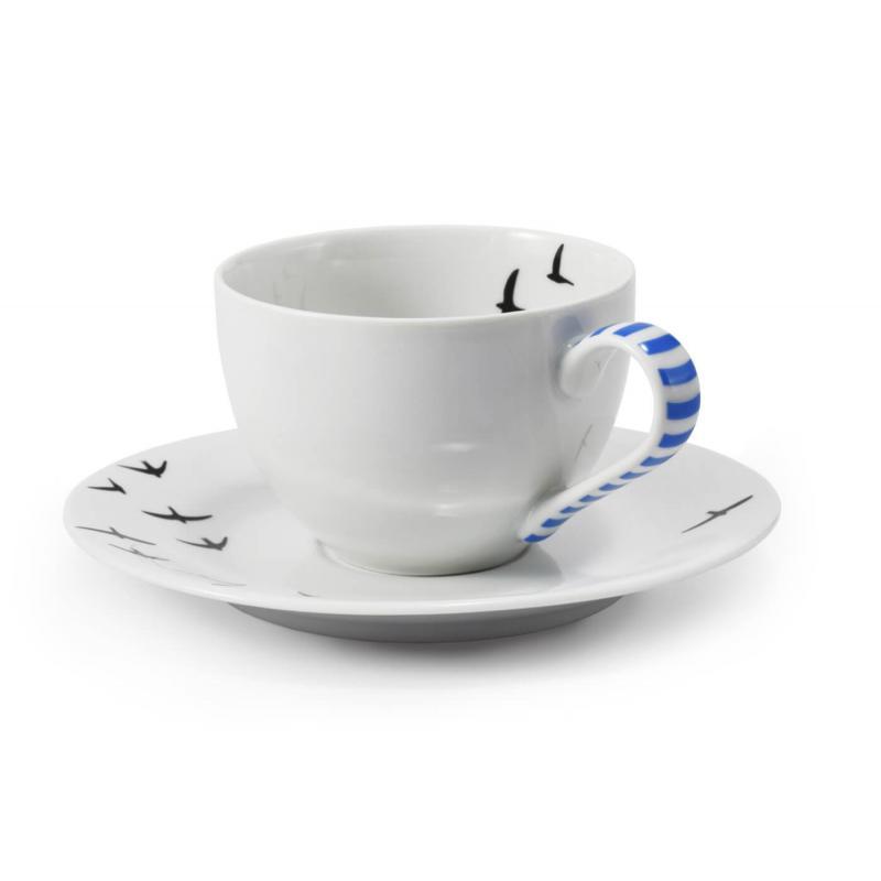 Tasse mit Untertasse BeFree mit Muster