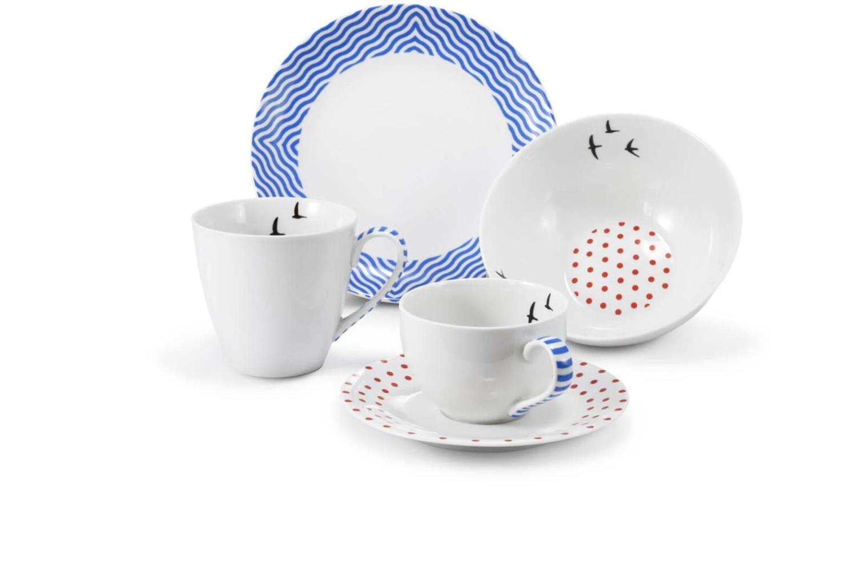 Frühstückservice 5-teilig BeFree blau