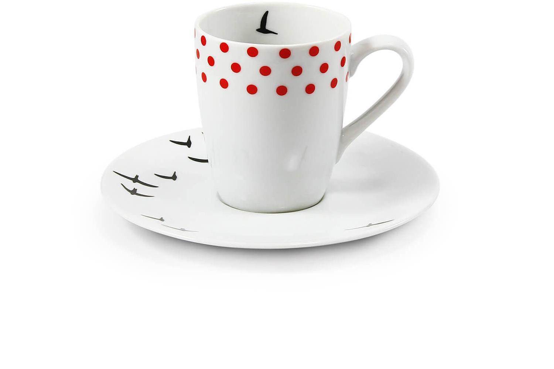 Šálek s podšálkem na espresso 0,09 l BeFree
