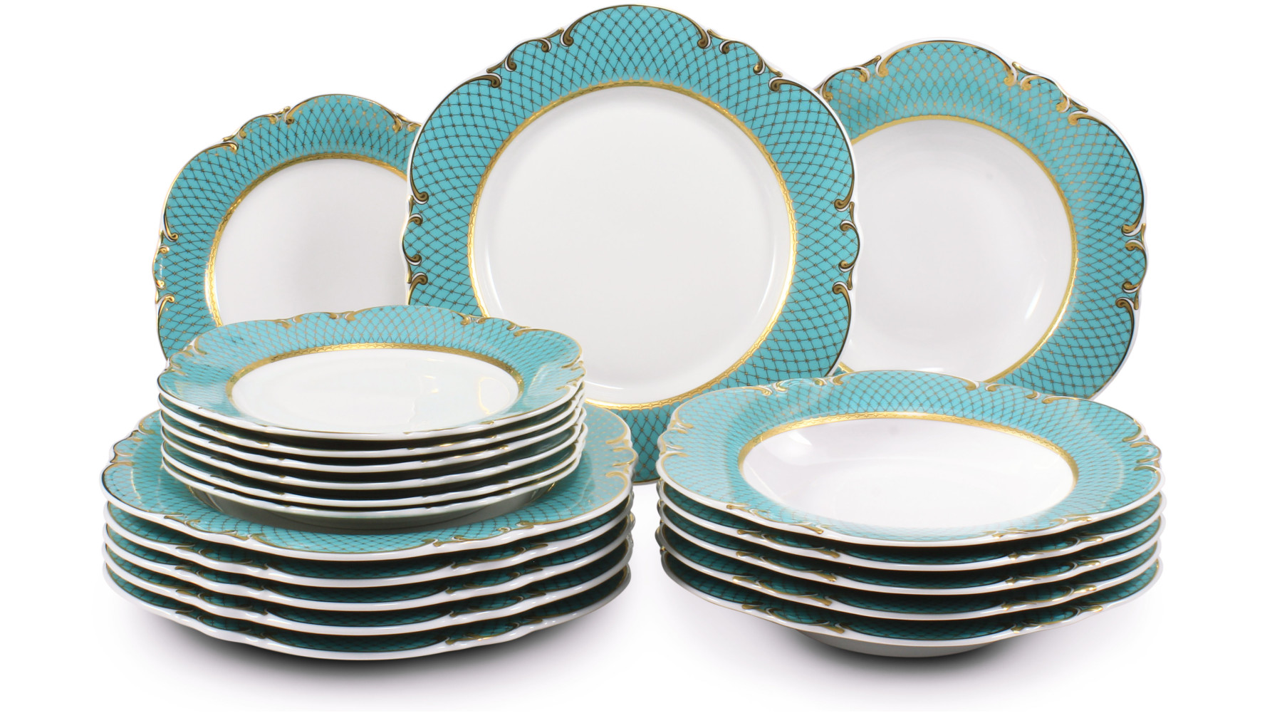 Plate set 18-piece - Roses under the stars