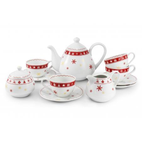 Tea set 11-piece Christmas...
