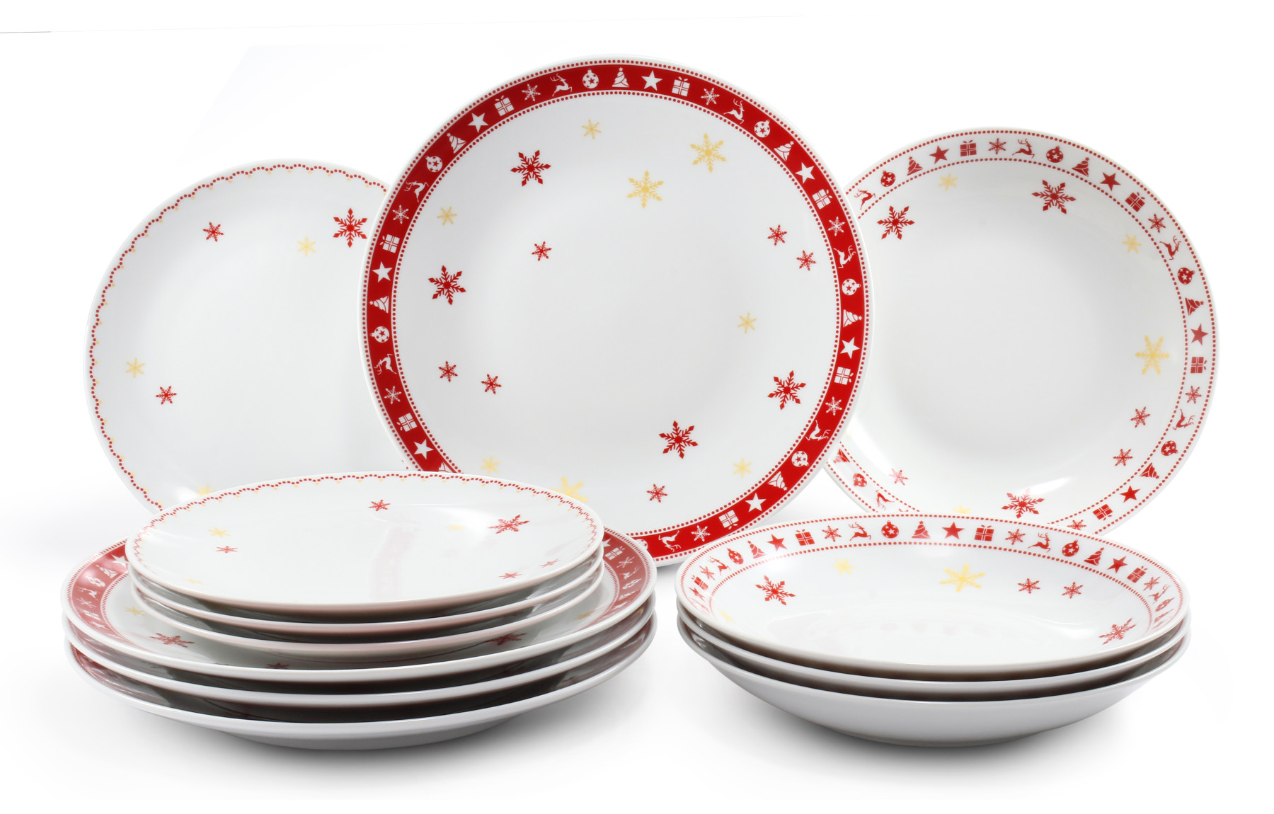 Plate set 12-piece Christmas dreaming