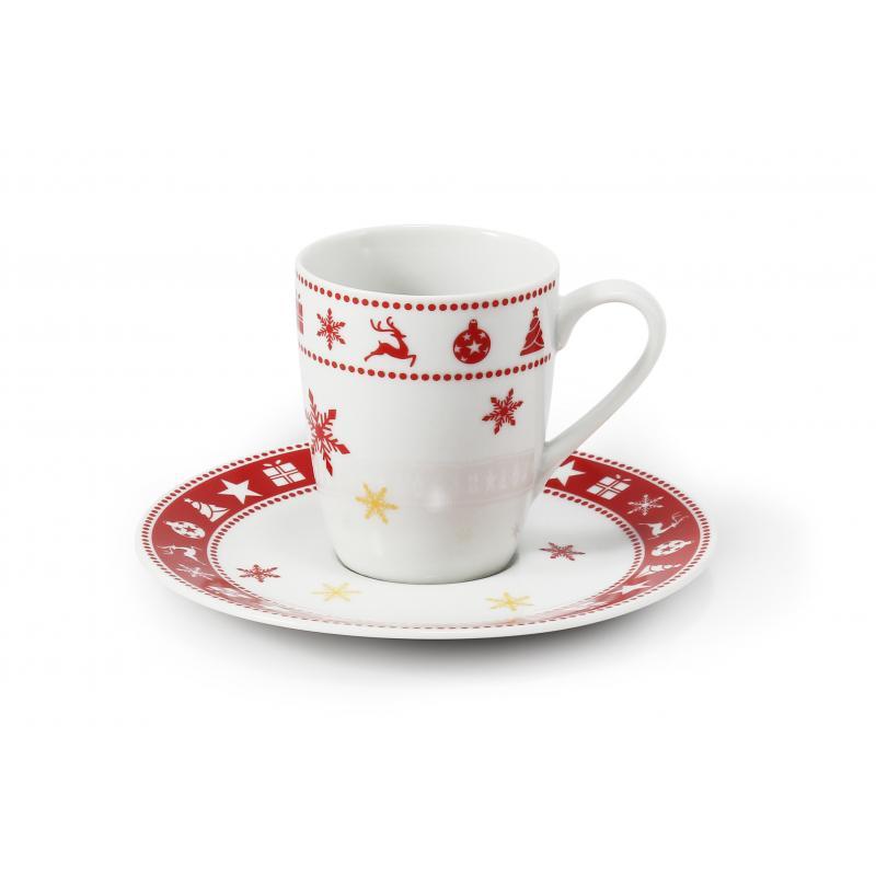 Tasse mit Untertasse 0,09l - Espresso Weihnachtsträume