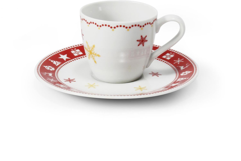 Tasse mit Untertasse 0,07l - Espresso Weihnachtsträume