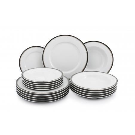 Plate set 18-piece - Sabina...