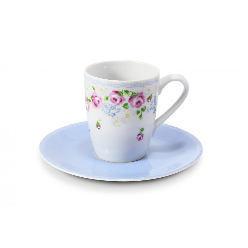Cup and saucer 0.09l - espresso RoseLine