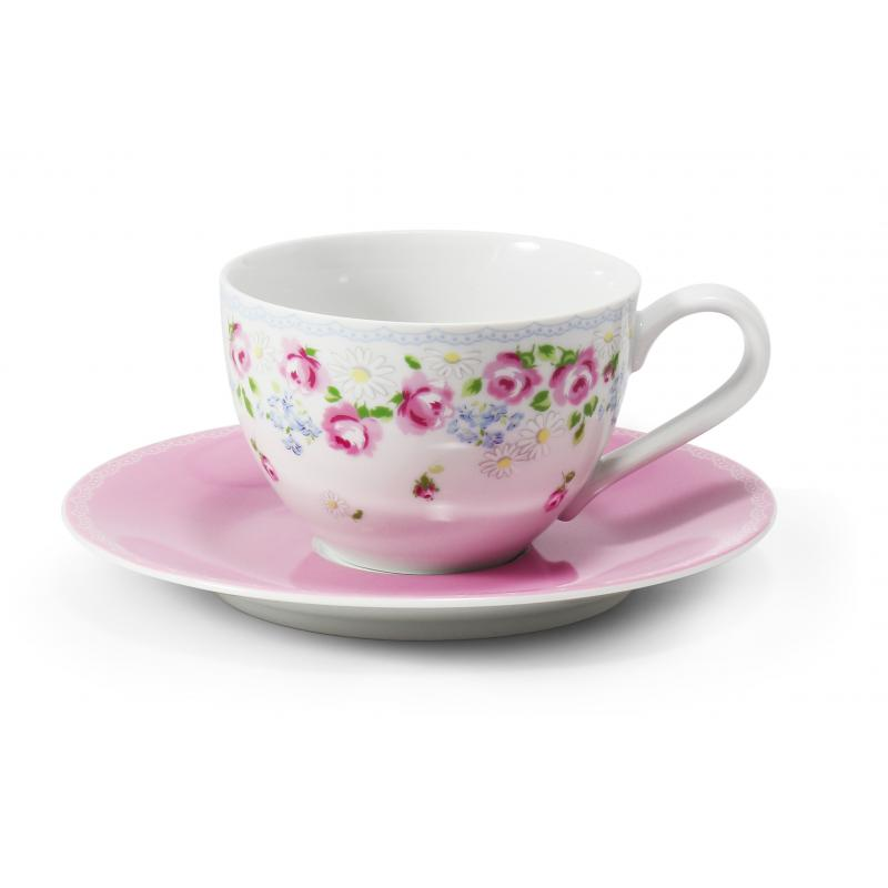 Cup and saucer 0.2l RoseLine